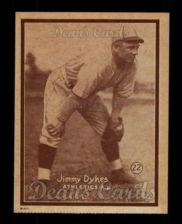1931 W517 Reprint #22  Jimmy Dykes