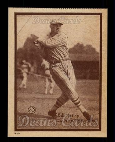 1931 W517 Reprint #23  Bill Terry