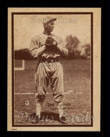 1931 W517 Reprint #45  Ted Lyons