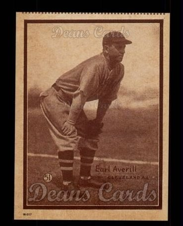 1931 W517 Reprint #51  Earl Averill