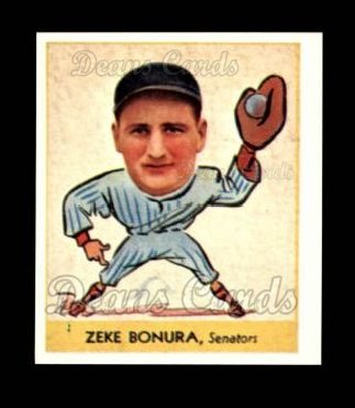1938 Goudey Heads-Up Reprint #252  Zeke Bonura