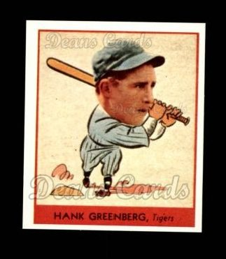 1938 Goudey Heads-Up Reprint #253  Hank Greenberg