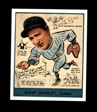 1938 Goudey Heads-Up Reprint #275  Bump Hadley