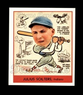 1938 Goudey Heads-Up Reprint #279  Moose Solters