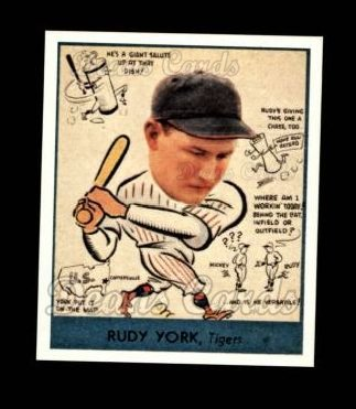 1938 Goudey Heads-Up Reprint #284  Rudy York