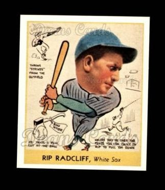 1938 Goudey Heads-Up Reprint #285  Rip Radcliff