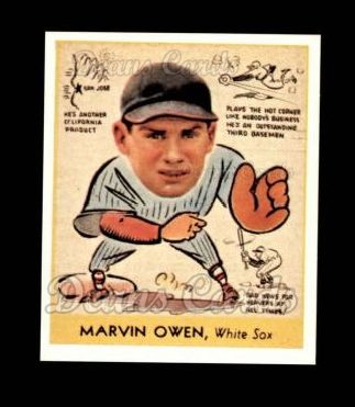 1938 Goudey Heads-Up Reprint #287  Marvin Owen