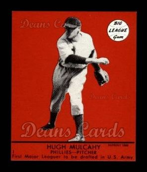1941 Goudey Reprint #1 RED Hugh Mulcahy