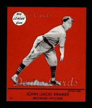 1941 Goudey Reprint #14 RED John Kramer