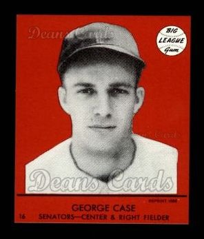 1941 Goudey Reprint #16 RED George Case