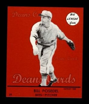1941 Goudey Reprint #19 RED Bill Posedel