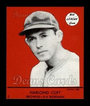 1941 Goudey Reprint #2 RED Harland Clift
