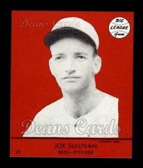 1941 Goudey Reprint #22 RED Joe Sullivan