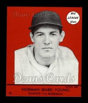 1941 Goudey Reprint #23 RED Babe Young