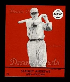 1941 Goudey Reprint #24 RED Stanley Andrews