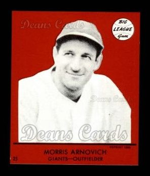 1941 Goudey Reprint #25 RED Morrie Arnovich