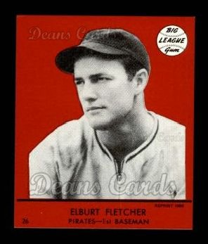 1941 Goudey Reprint #26 RED Elbie Fletcher