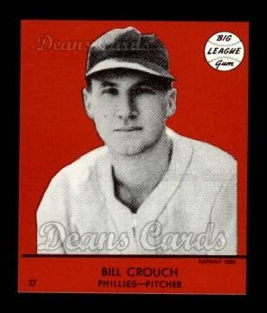 1941 Goudey Reprint #27 RED Bill Crough