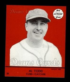 1941 Goudey Reprint #28 RED Al Todd