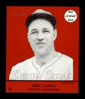 1941 Goudey Reprint #29 RED Debs Garms