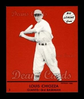 1941 Goudey Reprint #3 RED Louis Chiozza