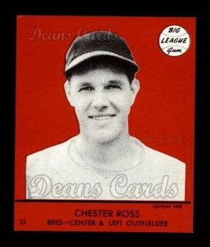 1941 Goudey Reprint #31 RED Chester Ross