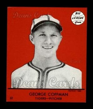 1941 Goudey Reprint #32 RED George Coffman
