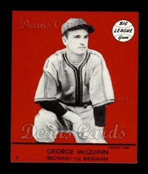 1941 Goudey Reprint #5 RED George McQuinn