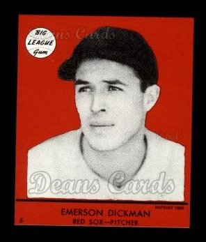 1941 Goudey Reprint #6 RED George Dickman