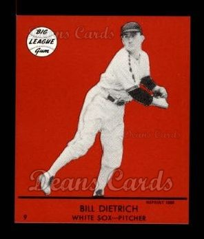1941 Goudey Reprint #9 RED Bill Dietrich