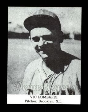 1947 Tip Top Bread Reprint  Ernie Lombardi