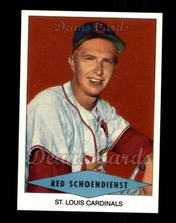 1954 Red Heart Reprint #27  Red Schoendienst