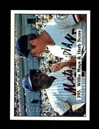 1976 SSPC #595  Willie Mays / Herb Score