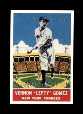 1933 Delong Gum Reprint #14  Lefty Gomez
