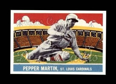 1933 Delong Gum Reprint #17  Pepper Martin