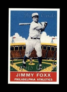 1933 Delong Gum Reprint #21  Jimmie Foxx