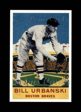1933 Delong Gum Reprint #9  Bill Urbanski