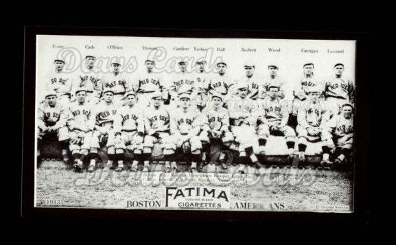 1913 T200 Fatima Team Reprint #1   Boston Americans