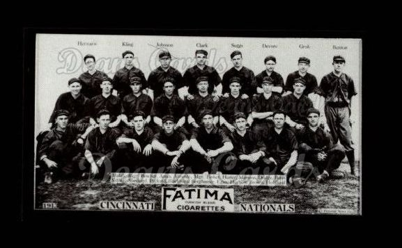 1913 T200 Fatima Team Reprint #12   Cincinnati Nationals