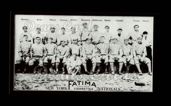 1913 T200 Fatima Team Reprint #13   New York Nationals