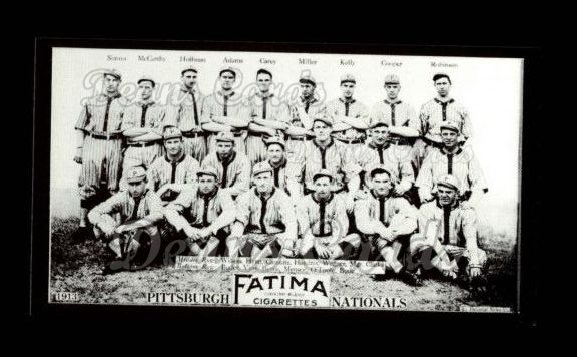1913 T200 Fatima Team Reprint #15   Pittsburgh Nationals