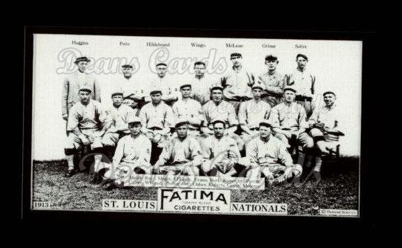 1913 T200 Fatima Team Reprint #16   St. Louis Nationals