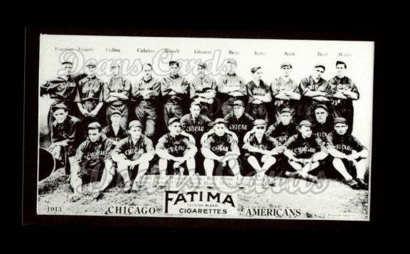 1913 T200 Fatima Team Reprint #2   Chicago Americans