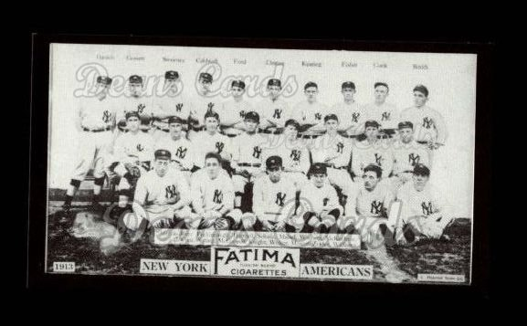 1913 T200 Fatima Team Reprint #5   New York Americans