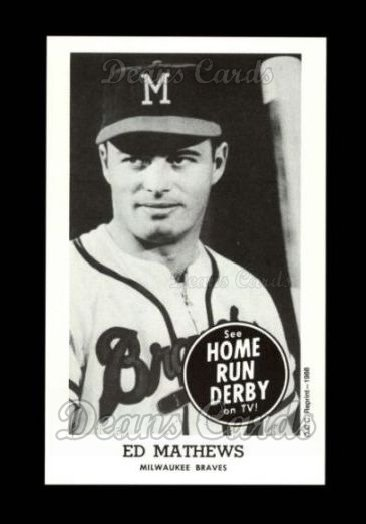 1959 Home Run Derby Reprint #13  Eddie Mathews