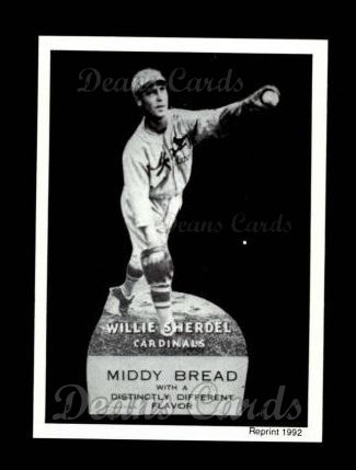 1927 Middy Bread Reprint #18  Willie Sherdel