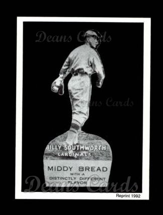 1927 Middy Bread Reprint #19  Billy Southworth