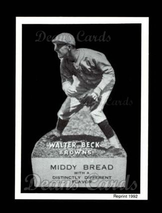 1927 Middy Bread Reprint #24  Walter Beck