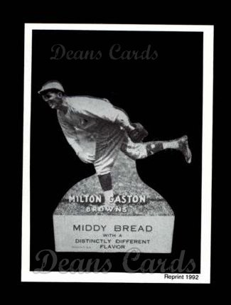 1927 Middy Bread Reprint #29  Milt Gaston