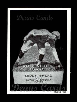 1927 Middy Bread Reprint #30  Walter Gerber